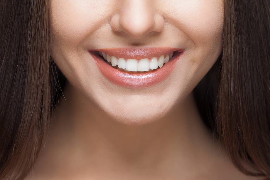 close up of young woman's smile
